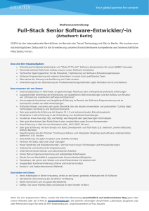 Full-Stack Senior Software-Entwickler