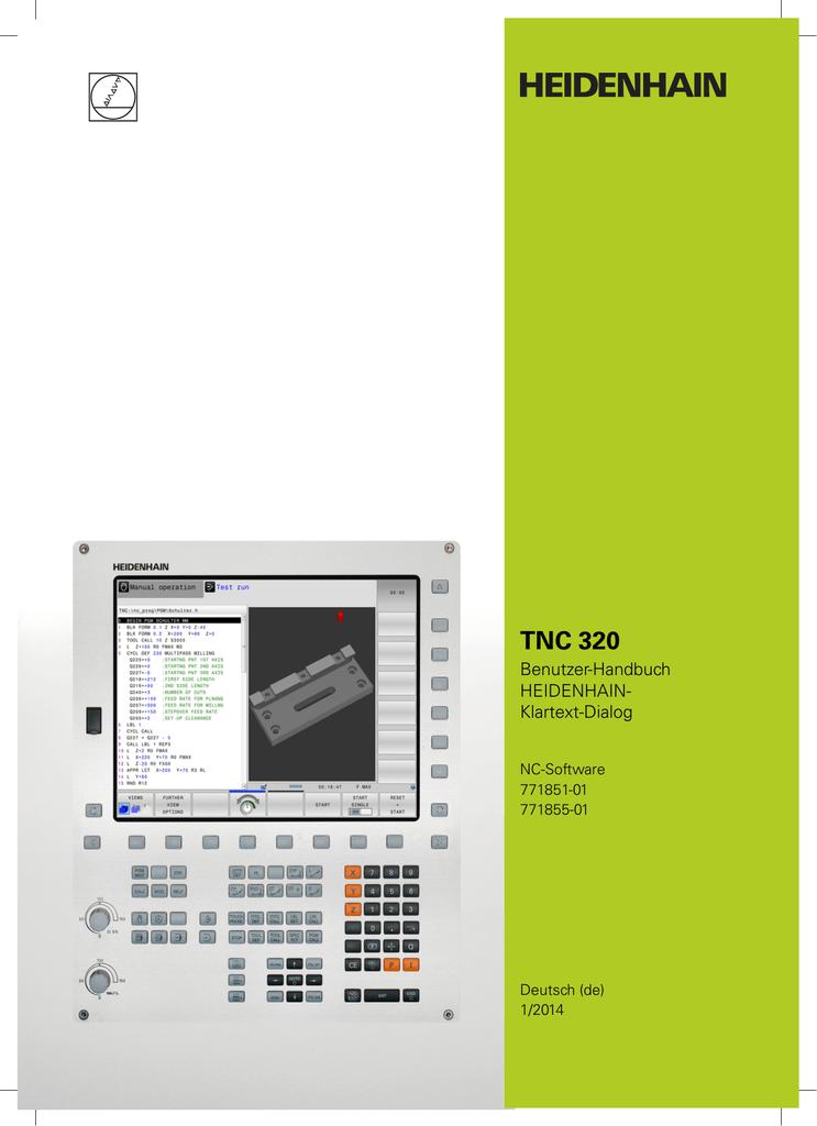 TNC 320 - Benutzer-Handbuch HEIDENHAIN-Klartext