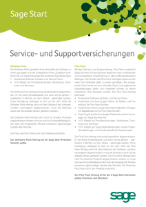 Sage Start Service- und Supportversicherungen