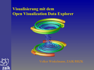 Visualisierung mit dem Open Visualization Data Explorer