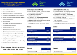 Produkt-Flyer Managed-Produkte