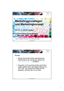 MKT-Konzept - bei Score Marketing