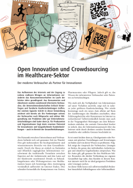 Open Innovation und Crowdsourcing im Healthcare-Sektor