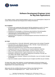 Software Development Engineer (m/w) for Big Data Applications