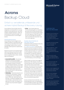 Acronis Backup Cloud Datenblatt
