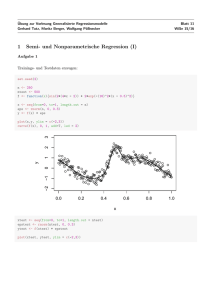 1 Semi- und Nonparametrische Regression