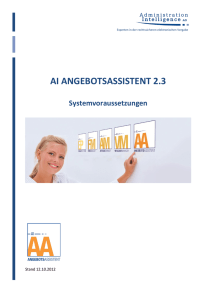 ai angebotsassistent 2.3 - Administration Intelligence AG