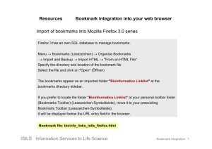 Resources Bookmark integration into your web browser