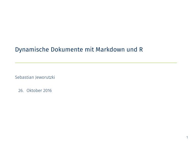 Präsentation - useR Bochum/Ruhr