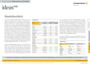 Commerzbank ideas daily - Zertifikate Commerzbank
