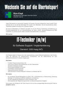 Kon-Cept für Software Support / Implementierung