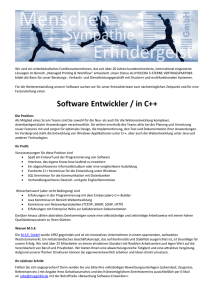 Software Entwickler / in C++