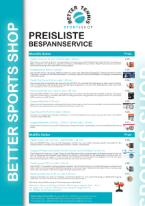 preisliste - Better Tennis