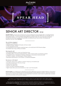 SENIOR ART DIRECTOR (W/M) SPEAR HEAD ]