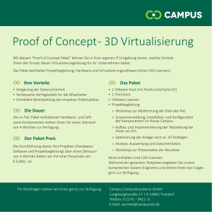 Proof of Concept - 3D Virtualisierung