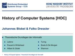 History of Computer Systems [HOC]