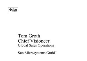 Global Sales Operations Sun Microsystems GmbH