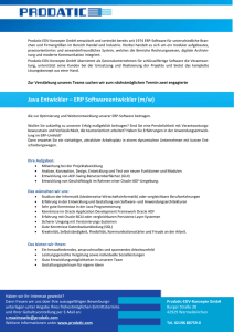 Java Entwickler – ERP Softwareentwickler (m/w)