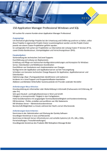150 Application Manager Professional Windows und SQL