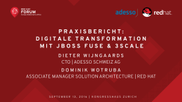 Praxisbericht: Digitale Transformation mit JBoss Fuse
