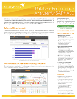 Database Performance Analyzer für SAP® ASE