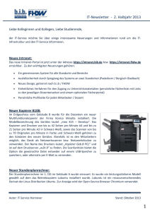 IT-Newsletter - 2. Halbjahr 2013