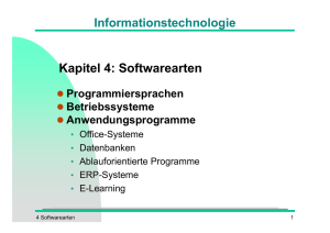 Softwarearten