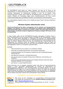 Windows System Administrator (m/w)