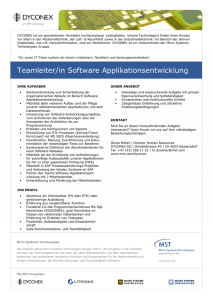 Teamleiter/in Software Applikationsentwicklung