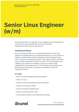 Senior Linux Engineer (w/m)