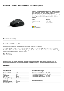 Microsoft Comfort Mouse 4500 for business optisch