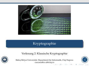 Kryptographie