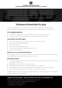 Software-Entwickler/in Java