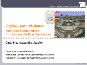 CityGML goes relational: Eine Oracle