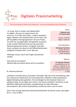 Digitales Praxismarketing