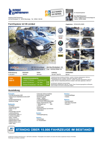 Ford Explorer 4.0 V6 Limited 800 € 9 € 5 € Ausstattung