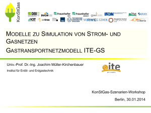 Gastransportnetzmodell ITE-GS