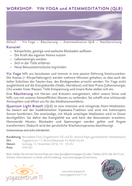 WORKSHOP: YIN YOGA und ATEMMEDITATION
