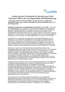 Curetis ernennt Christopher M. Bernard zum Chief Executive Officer