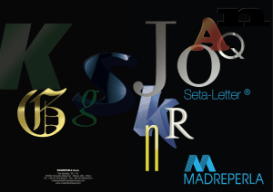 Seta-LETTER - MADREPERLA Spa
