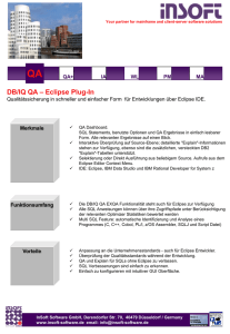 QA Eclipse Plug-In Fact Sheet - InSoft Infotel Software GmbH