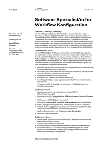 Software-Spezialist/in für Workflow Konfiguration