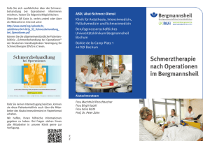 Schmerztherapie nach Operationen im