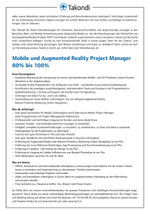 Mobile und Augmented Reality Project Manager 80% bis 100%