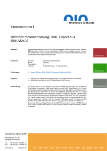 Referenzimpelementierung: XML Export aus IBM AS/400