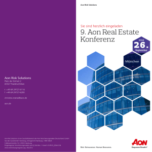 9. Aon Real Estate Konferenz