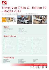 Travel Van T 620 G - Edition 30 - Modell 2017