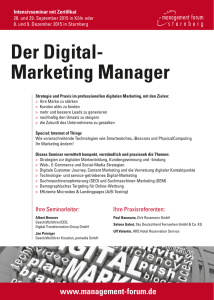 Zum Inhalt des Training. - Digital Transformation Group