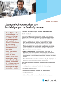 Oracle Datenrettung