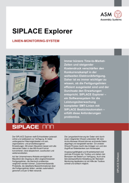 SIPLACE Explorer - ASM Assembly Systems
